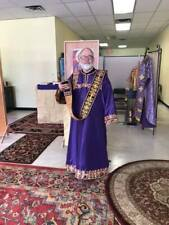 Orthodox deacon vestments set in purple fully embroidered