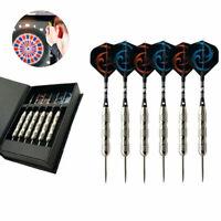 Professional 23g 6pcs/Set Tungsten Darts, Steel Tip Shaft Flights Barrel w/ Case