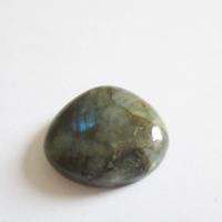 reflets bleu vert dor\u00e9 reiki plexus solaire 3eme oeil Labradorite cabochon pierre fine 50x35x5mm gemme flashy arc en ciel