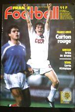 FRANCE FOOTBALL 14/10/1986; France-U.R.S.S. 0-2/ Real Madrid-Barcelone