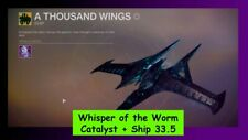 Whisper of the Worm Catalyst + Ship 33.5 Recovery D2 PS4 or Cross Save