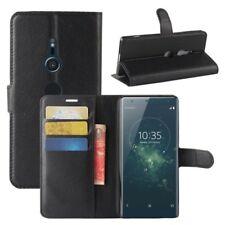 Cartera De Bolsillo Negro Premium para Sony Xperia XZ2 Cubierta la caja sobres