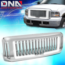 FOR 2005-2007 FORD SUPER DUTY FENCE STYLE FRONT BUMPER GRILLE W/ LED TUBE BAR