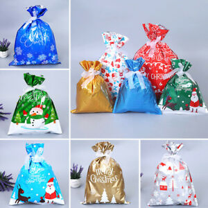 2Pcs Christmas Candy Cookies Bags Party Wedding Gift Pouches Xmas Party Favours