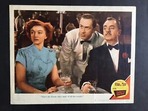 SONG OF THE THIN MAN '47 WILLIAM POWELL & MYRNA LOY BEST CARD IN SET