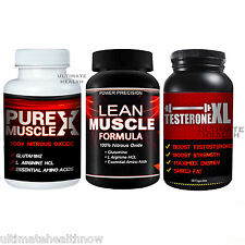 1 POWER PRECISION LEAN MUSCLE FORMULA 1 PURE MUSCLE X 1 TESTERONE XL PILLS