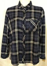 Rails Shirt Blue And White And Silver Hunter LongSleeve Size X-Small