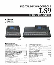 Yamaha LS9-16-LS9-32 Mixing Console Service Manual and Repair Guide