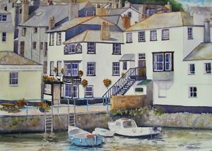 Falmouth Harbour Cornwall art print from a Watercolour painting by Alex Pointer