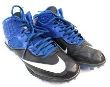 Mens Nike Code Pro Lunarlon Blue/Black/White Football Cleats  Size 9