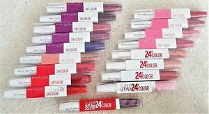Maybelline New York Superstay 24H Color Lippenstift Lip Lippgloss ver. Farben