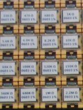 10pcs 1/4 Watt 0.25W Metal Film Resistors 1% - Full Range of Values 0Ω to 10MΩ