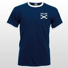 Scotland T-shirt Retro Scottish Supporters Team Mens Womens Kids Nostalgic Top