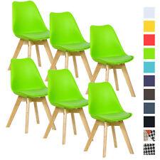 6 x Esszimmerstühle Esszimmerstuhl Bürostuhl Küchenstuhl Holz Grün BH29gn-6