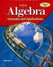 Glencoe Algebra: Concepts and Applications, Volume 2, Student Edition
