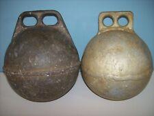 "Vintage Metal Fishing Float Buoys Old Crab Lobster Buoys 9"" - 2 Metal Crab Buoys"