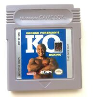Nintendo Game Boy Cart Only Tested George Foreman's KO Boxing CLEAN LABEL