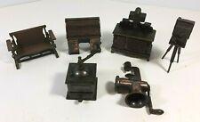 Vintage Durham Industries Metal Die-Cast Miniatures Doll Furniture  Lot of 6 pcs