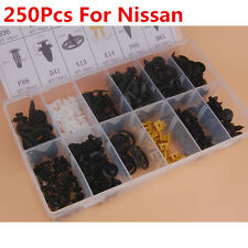 250 Car Auto Body Interior Push Rivets Fender Retainer Fastener Clip For Nissan