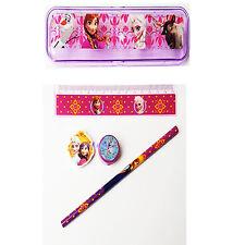Disney Frozen 5 Piece School Set  Pencil Case  Sharpener  Ruler  Rubber  Pencil