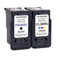 2 PK PG 245XL CL 246XL Ink Cartridge For Canon PIXMA MG2420 MG2450 MG2550 MX490