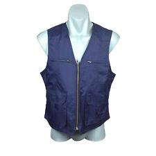 Perry Ellis Mens Vest Size S Blue Sleeveless Zipper aaad9d61b