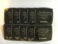 Lot of 10 Chanel Vitalumiere Aqua Skin Perfecting Makeup Spf15, 30 Beige Samples