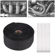 Universal Motorbike Exhaust Heat Fiberglass Wrap Protection Roll Header Tape Kit