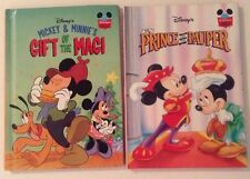 Lot Of 2  Pre Owned Disney Mickey/Minnie Books 1993/ 2001