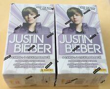 Lot Of 2 2010 Panini Justin Bieber Trading Cards Blaster Boxes