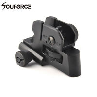 Adjustable Rear Iron Sight Post Fixed Match-Grade 20mm Picatinny Rail For Rifle