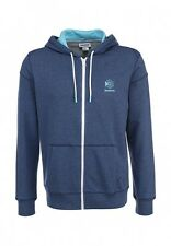 Reebok Men's Full Zip Hooded Sweatshirt Blue XXL 2XL