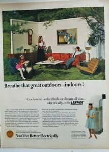 1968 Lennox air conditioning live better electrically vintage ad