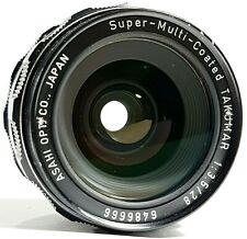 Pentax Super Multi Coated Takumar F3.5 28mm Prime Lens M42 w/ Caps UK Fast Post