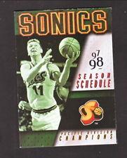 Seattle Supersonics--Detlef Schrempf--2000-01 Pocket Schedule--MGD