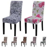 1/4/6pcs Dining Room Removable Chair Covers Wedding Banquet Seat Covers