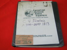 Dolmar parts and service book for chainsaws, string trimmers and other equipment