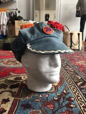 Vintage 1970s Denim Patchwork Hat 76 Pin Levis Faded