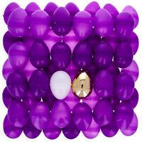 Set of 46 Purple Plastic Eggs + 1 White Egg + 1 Golden Easter Egg