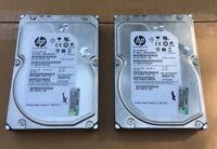 Lot Of 2 HP / Seagate Server Hard Drives 2TB SAS 7200 RPM MB2000FAMYV