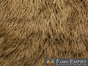 """Faux Fur Long Pile Curly Fabric ALPACA / 60"""" Wide / Sold by the Yard"""