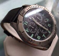 Men's Genuine Citizen Eco Drive Solar Chronograph Military Black Designer Watch