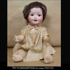 "Antique 16"" Heubach Koppelsdorf Bisque Head Character Baby Doll"