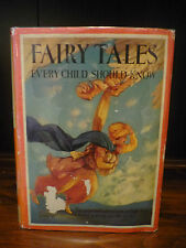 Fairy Tales 1915 DJ Illustrated Grimm's Andersen Beauty and the Beast Aladdin