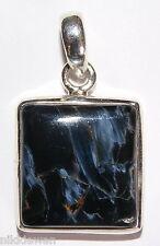 Cristal argent sterling carré pendentif Pietersite Bijoux No. 3099