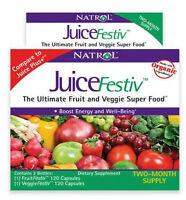 NATROL JUICEFESTIV 2 PK 240 JUICE FESTIV FRUIT AND VEGGIE CAPSULES