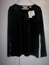 Bechamel Petites~ Long SleeveBlack Crinkle Shirt & Skirt Set NWT Size PL