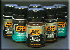 5 X Ak Interactive Enamel Washes Choose Any 5 Includes All The Latest Releases