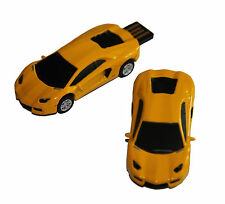 Sportwagen Rennauto Sport Car gelb - USB Stick 64 GB Speicher / USB Flash Drive