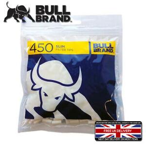 *NEW* BULL BRAND SLIM FILTER TIPS 450 Filters BAG Bullbrand CIGARETTE ROLL UP